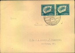 1951, Fernbrief Ab WÜNSCHENDORF (ELSTER) Mit Waag. Paar 12 Pfg. Wintersport. - DDR