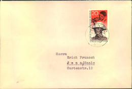 "1958, 40 Jahre Novemberrevolution Sog. """"Pappchinese"""" Auf überfrankiertem Ortsbrief Ab JENA 17.11.58 - DDR"
