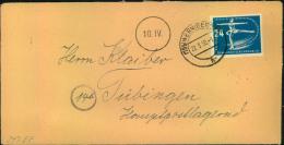 1950, Fernbrief Mit 24 Pfg. Eiskunstlaufen Ab (13b) WERNIGERODE - DDR