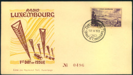 1953, 3 Fr. RADIO LUXEMBURG Fdc - Luxemburg