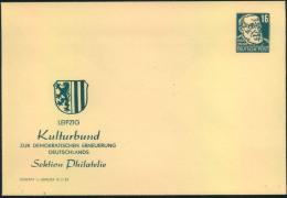 1953, Privatngsanzsache 16 Pfg. Köpfe Mit Zudruck Kulturbund. Suaber Ungebraucht. - DDR