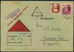 1954, 8 Und 40 Pfg. Köpfe II Auf Nachnahme-Drucksache Bis 50 G Ab DRESDEN: Seltenere Portostufe. - DDR