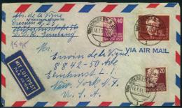 1951, Luftpostbrief Ab (13a) DRESDEN N 23 L 18.7.51 Nach New York. - DDR