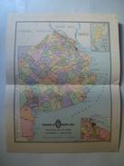 MAPA DE LA PROVINCIA DE BUENOS AIRES - ARGENTINA, 1950 APROX. 30X24 CM MAP. CARTOGRAFÍA ACA / PEUSER. - Cartes