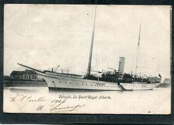 CPA - OSTENDE - Le Yacht Royal ALBERTA  (dos Non Divisé) - Voiliers
