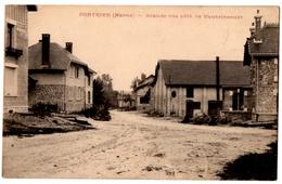 51 DONTRIEN Grande Rue Coté De Vautsincourt ( Vaudesincourt ) Cpa Marne - France