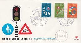 Netherlands Antilles Set On FDC - Accidents & Road Safety