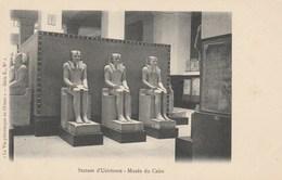 CPA Egypte. Statues D'Usirtesen - Musée Du Caire. La Vie Pittoresque En Orient. - Série E., N° 2 - Le Caire
