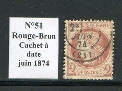 FRANCE- Y&T N°51- Cachet à Date - 1871-1875 Ceres