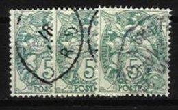 FRANCE, Yv 111e, Used, F/VF, Cat. € 39,00 - 1900-29 Blanc