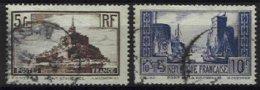 FRANCE, Yv 260/1, Used, F/VF, Cat. € 9,00 - France
