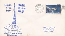 SPACE - ROCKET FIRED FROM PACIFIC -1962 - USA/EEUU - EX COLECCION ENGINEER/INGENIEUR DEMETRIO VOZNESENSKY - BLEUP - Space