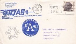 SPACE - APOLLO COVER -1968 - USA/EEUU - EX COLECCION ENGINEER/INGENIEUR DEMETRIO VOZNESENSKY - BLEUP - Space