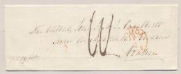 Nederland - 1862 - Langstempel MOORDRECHT Op Vouwbriefje Via Gouda Naar Arnhem - Niederlande