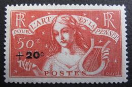LOT DF/706 - 1936 - POUR L'ART ET LA PENSEE - N°329 NEUF* - Unused Stamps