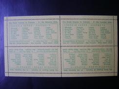 ESPERANTO - BLOCK OF 4 LABELS OF THE XII BRAZILIAN CONGRESS OF 21 TO 28 SEPTEMBER 1949 - Esperanto