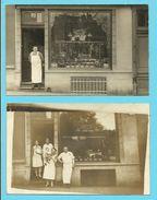 BELGIQUE - BRUXELLES - LAEKEN  - CHARCUTERIE DE LA COURONNE - L.ACKERMANS-D'HOLLANDER - CARTE PHOTO - Non Classés