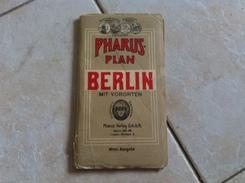 Carte Routière PHARUS PLAN BERLIN MIT VORORTEN FUHRER ( Allemagne ) - Roadmaps