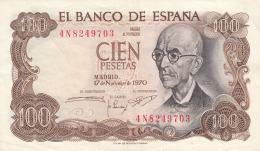 BILLETE ESPAÑA - 100 PESETAS 1970 - [ 3] 1936-1975 : Régimen De Franco