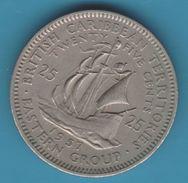 "BRITISH CARIBBEAN TERRITORIES 25 CENTS 1957  The ""Golden Hind"" Ship Of Sir Francis Drake - British Caribbean Territories"
