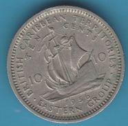 "BRITISH CARIBBEAN TERRITORIES 10 CENTS 1956  The ""Golden Hind"" Ship Of Sir Francis Drake - British Caribbean Territories"