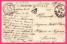 Obl. St André De Seignanx Et Pau 1915 - Pau - Vue Sur Le Gave Du Prolongement De La Place Royale - Animée - 1915 - Marcofilie (Brieven)