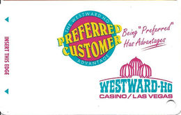 Westward Ho Casino - Las Vegas, NV - BLANK Slot Card With Teal Logo - Not Printed Or Punched! - Casino Cards