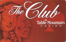 Table Mountain Casino - Friant, CA - BLANK Slot Card - Reverse Logo Centered - Casino Cards