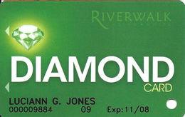 Riverwalk Casino - Vicksburg, MS USA - BLANK Diamond Level Slot Card - Casino Cards