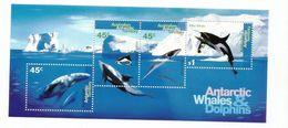 1995 Australian Antarctic Territory Whales & Dolphins Souvenir Sheet MNH - Ungebraucht