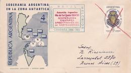 SOBERANIA ARGENTINA ANTARTICA,DESTACAMENTO NAVAL MELCHIOR 1965 - ARGENTINA/L'ARGENTINE - RARISIME TOP COLLECTION - BLEUP - Bases Antarctiques