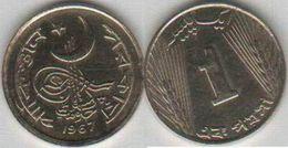 Pakistan 1967 Very Rare 1 Paisa Specimen Proof Metal Nickel Brass Coin KM#24a - Pakistan