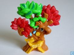 Der Geheimnisvolle Zauberwald / Baum Mit Reh + BPZ - Maxi (Kinder-)