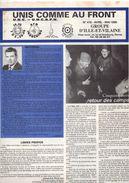 Unis Comme Au Front, U.N.C. D'Ille Et Vialine, (35), N° 476, 16 Pages, Avril 1995, Anciens Cambattants, Retour Des Camps - Histoire
