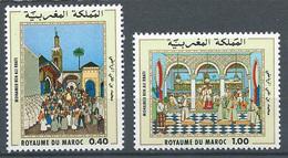 Maroc YT N°825/826 Mohamed Ben Ali Rbati Neuf ** - Marocco (1956-...)