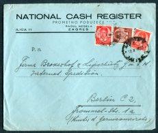 1938 Zagreb National Cash Register Cover - Berlin Germany - 1931-1941 Kingdom Of Yugoslavia