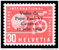Switzerland, BIT, ILO, International Labour Organization, 1969, Visit Of The Pope, MNH, Michel 103 - Service