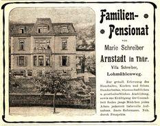 Original-Werbung/ Anzeige 1903 - VILLA SCHREIBER / ARNSTADT - LOHMÜHLENWEG - Ca. 110 X 45  Mm - Pubblicitari