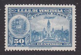 Venezuela, Scott #C92, Mint  Hinged, National Pantheon, Issued 1938 - Venezuela