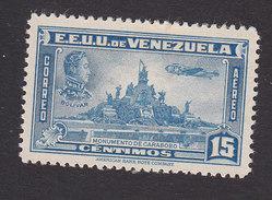 Venezuela, Scott #C136, Mint Hinged, Simon Bolivar And Carabobo Monument, Issued 1940 - Venezuela