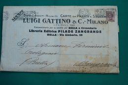 """PUBBLICITA'_ADVERTISING_PLICO STABILIMENTI RIUNITI CARTE DA PARATI E STUCCHI """" LUIGI GATTINO & C-Milano_Vg 13.6.1929- - Pubblicitari"""