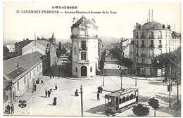 CP 492  CPA De Clermont-Ferrand (63) Avenue Charras Et Avenue De La Gare - Non Classés