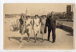 BIARRITZ - CARTE PHOTO - La Promenade à Côté De L'Hôtel Du Palais - Biarritz