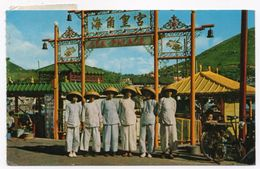 HONG KONG -SAMPAN GIRLS WAITING AT THE PIER OF THE SEA PALACE BOAT-RESTAURANT/ WITH MALAYSIA THEMATIC STAMPS-BUTTERFLY - Cina (Hong Kong)