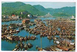 HONG KONG - ABERDEEN THE FAMOUS FISHING VILLAGE-1971 - Cina (Hong Kong)