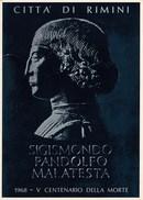 RIMINI - BIGLIETTO INVITO DEL 1968 DEL SINDACO CECCARONI A CONFERENZE SU SIGISMONDO PANDOLFO MALATESTA  PROF.P.J. JONES - Programmi