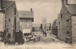 CPA 50 - Carolles - L'Eglise Et L'Hôtel Des Bains - Non Classés