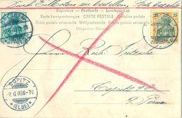 1903 , ALEMANIA , TARJETA POSTAL CIRC. DRESDEN - COPITZ , LLEGADA - Cartas