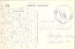 1914 , ALEMANIA , TARJETA POSTAL CIRC. A BAUTZEN , FELDPOSTKARTE , FRANQUICIA DE LA MARINA IMPERIAL ALEMANA - Cartas