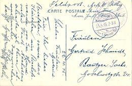1915 , ALEMANIA , TARJETA POSTAL CIRC. A BAUTZEN , FELDPOSTKARTE , FRANQUICIA DE LA MARINA IMPERIAL ALEMANA - Cartas